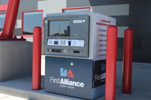 Drive-up Kiosk ITM Video Teller Machine | First Alliance Credit Union