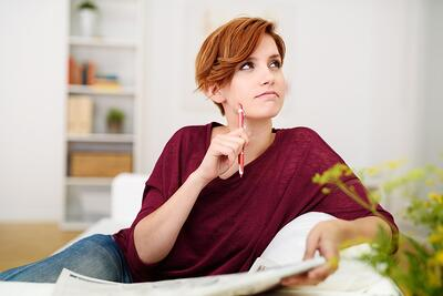 Lady thinking | First Alliance Credit Union