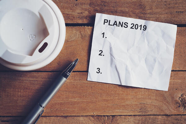 Empty list of financial goals for 2019 | First Alliance Credit Union